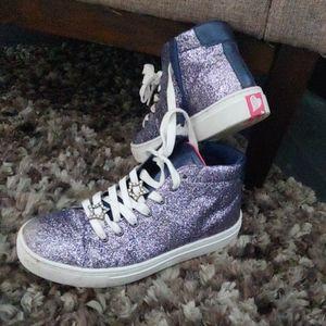 Sketcher glitter hightop sneakers